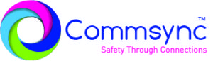 Commsync Safety through connections horizontal logo